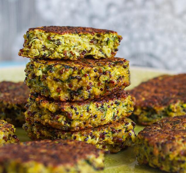 recette da picnic: polpette di quinoa e zucchine
