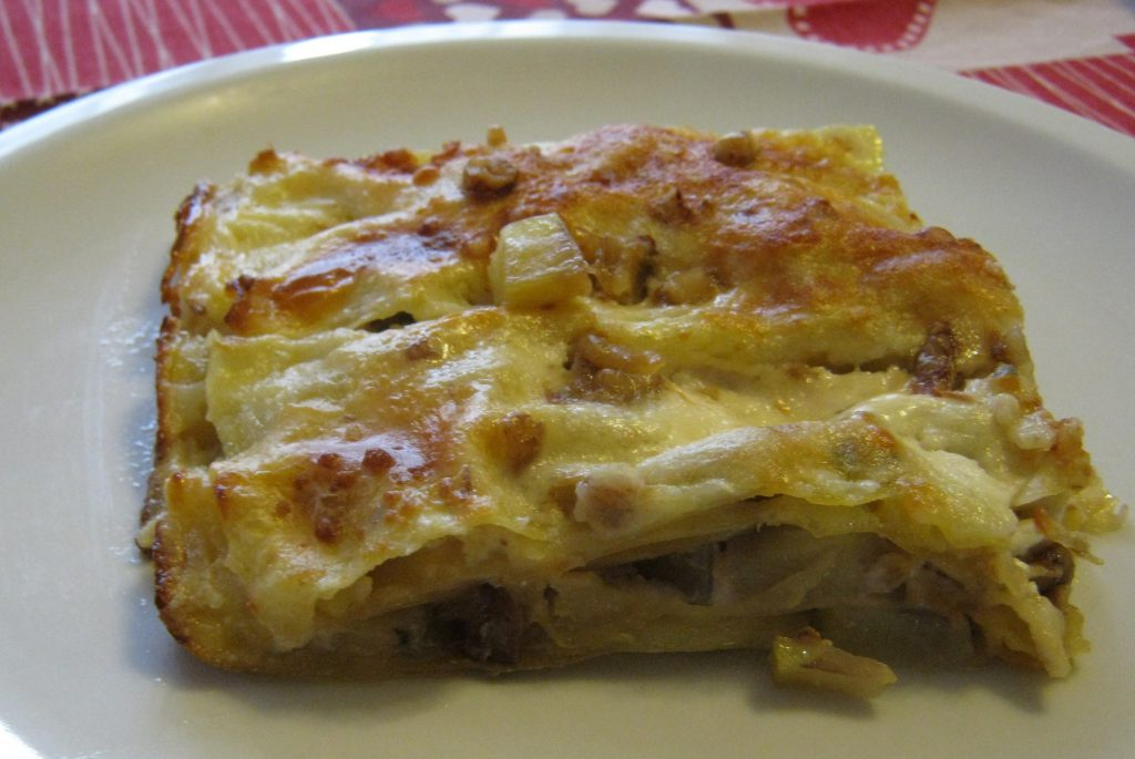 ricette invernali: lasagne gorgonzola e noci